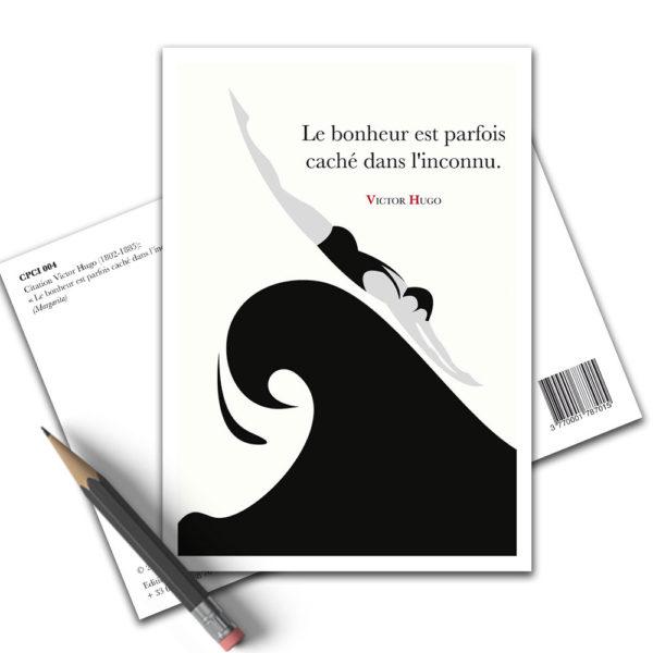 Carte Postale Citation - Victor Hugo le Bonheur CPCI 004