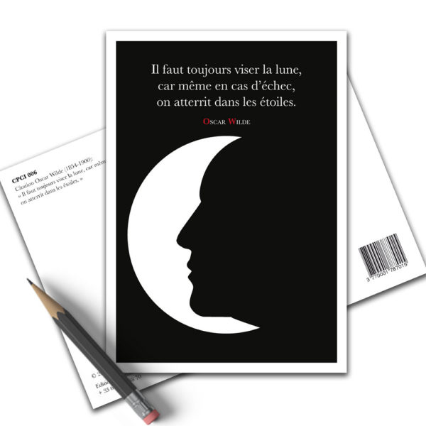 Carte Postale Citation - Oscar Wilde Viser la Lune CPCI 006