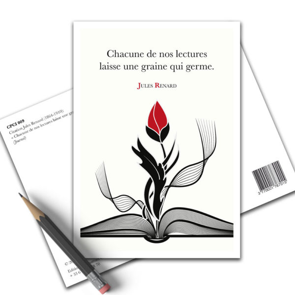 Carte Postale Citation - Jules Renard Lecture CPCI 009