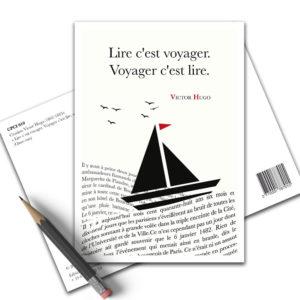 Carte Postale Citation - Victor Hugo Lire C'est Voyager CPCI 010