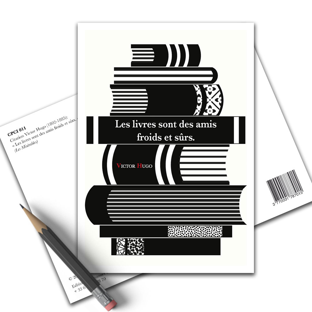 Carte Postale Citation Victor Hugo Les Livres Cpci 011