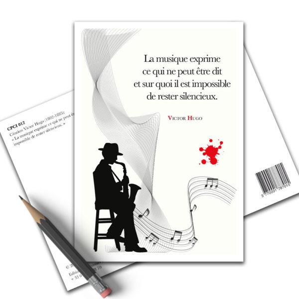 Carte Postale Citation - Victor Hugo La Musique CPCI 012