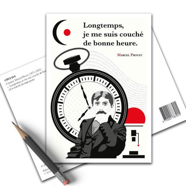 Carte Postale Citation - Marcel Proust Longtemps Je Me Suis Couché CPCI 014