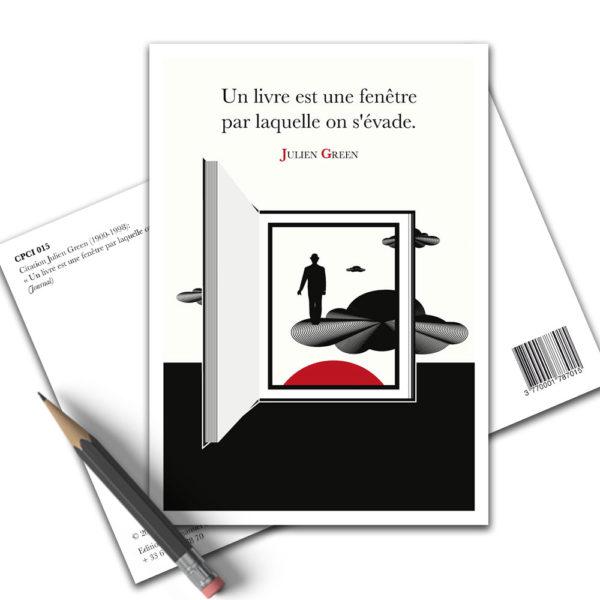 Carte Postale Citation Lecture Julien Green