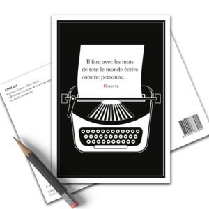 Carte Postale Citation - Colette Ecrire CPCI 019