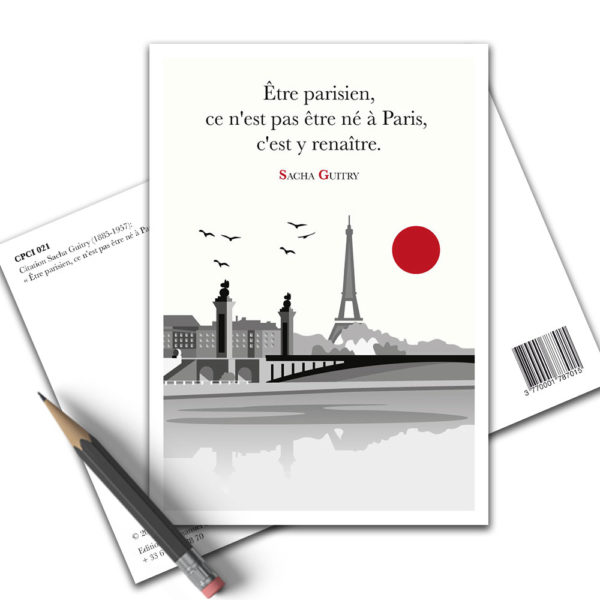 Carte Postale Citation - Sacha guitry Paris CPCI 021