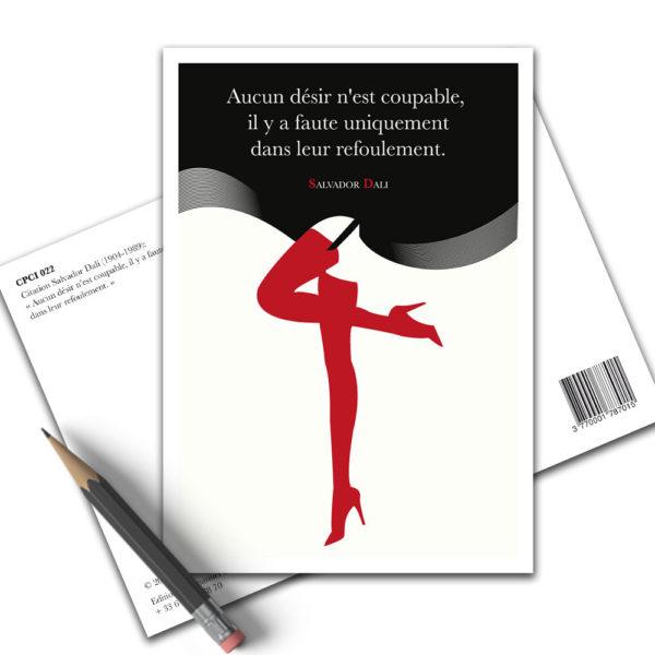 Carte Postale Citation - Salvador Dali Désir CPCI 022