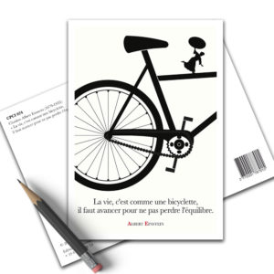 Carte Postale Citation - Albert Einstein Vie Bicyclette CPCI 024