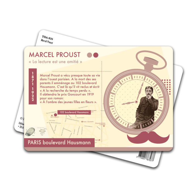Carte Postale Marcel Proust