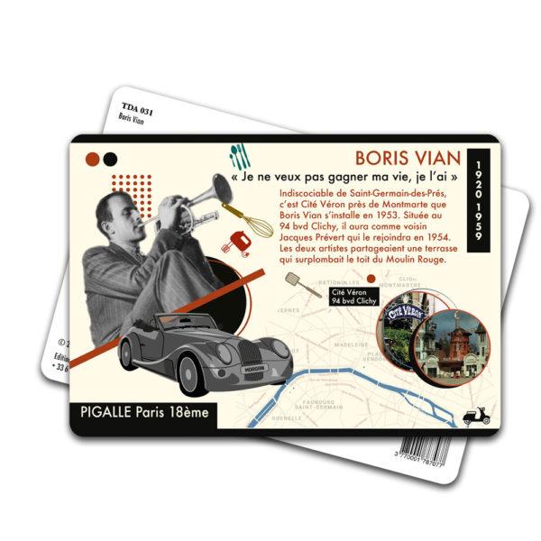 Carte Postale Boris Vian