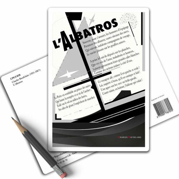 Poème Charles Baudelaire L'Albatros - Carte Postale Arts-Citations