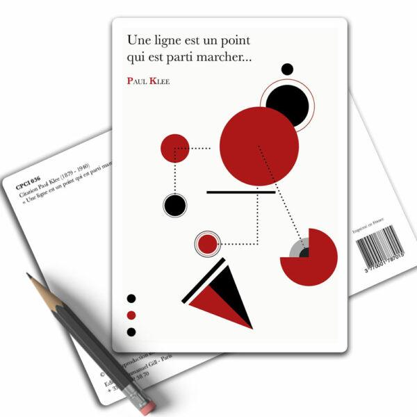 Carte Postale Citation Paul Klee